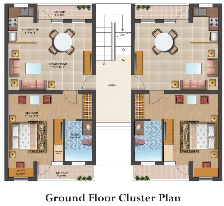 1 Bhk 2 Bhk Flat Studio Apartment Property For Sale In Vrindavan Omaxe Eternity